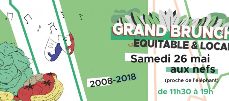 10 ème Brunch Equitable & Local à Nantes le samedi 26 mai 2018