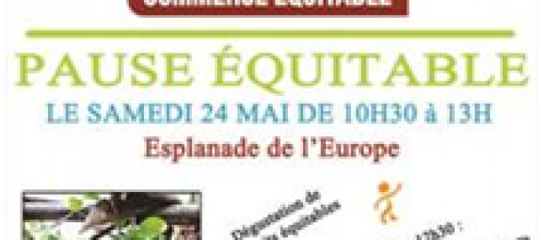 Pause équitable samedi 24 mai 2014 à Orvault