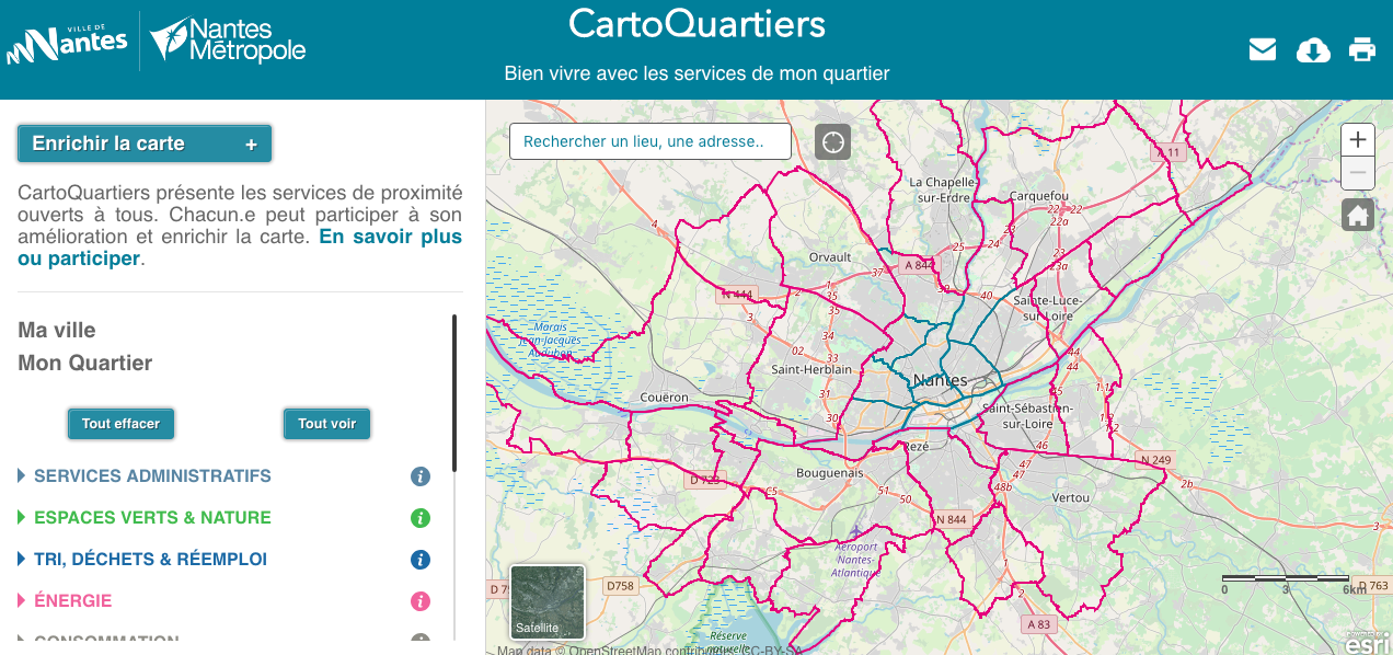 Site web CartoQuartier